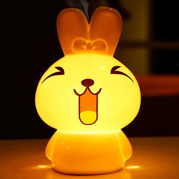 Drive Midge Essential Oil Purify Air Cartoon Ceramic NiNi Rabbit Night Light - WHITE