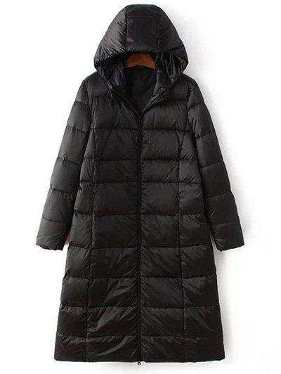 Long Sleeve Hooded Quilted Long Winter Jacket christmas long hooded jacket girl 90