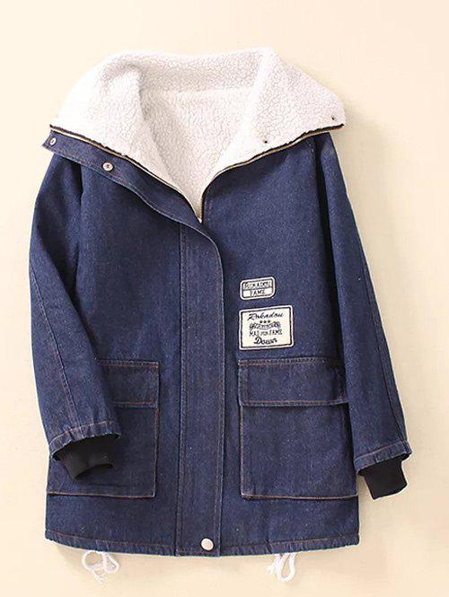 Pocket  Sherpa Fleece Denim Coat financial accounting with annual report
