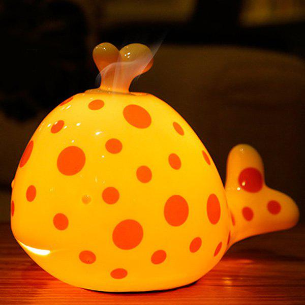 Conduisez Midge Essential Oil Purifier Air Cartoon Céramique Dolphin Night Light - Saumon