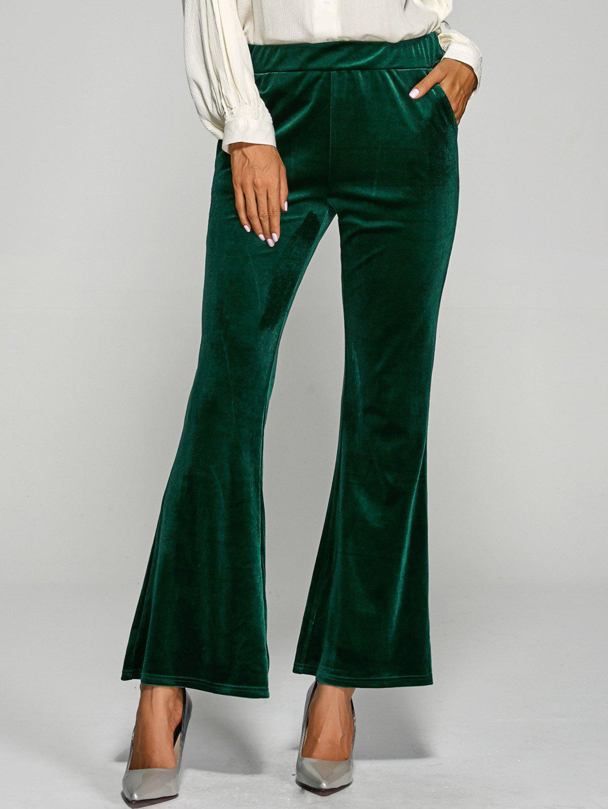 цены  Velvet Boot Cut Bell Bottom Pants