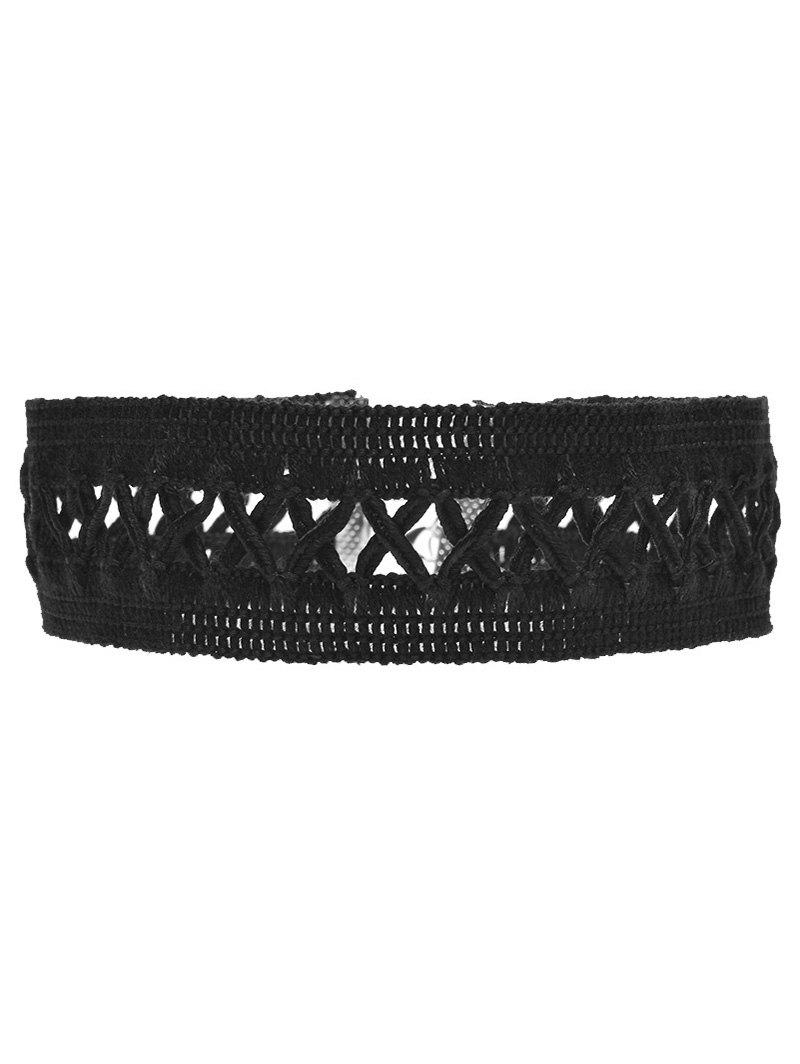 Crochet Lace Criss Cross Choker Necklace