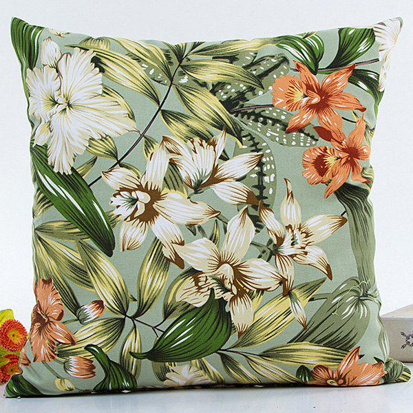 Florals Printed Decorative Soft Household Pillow Case handpainted birds and leaf branch printed pillow case