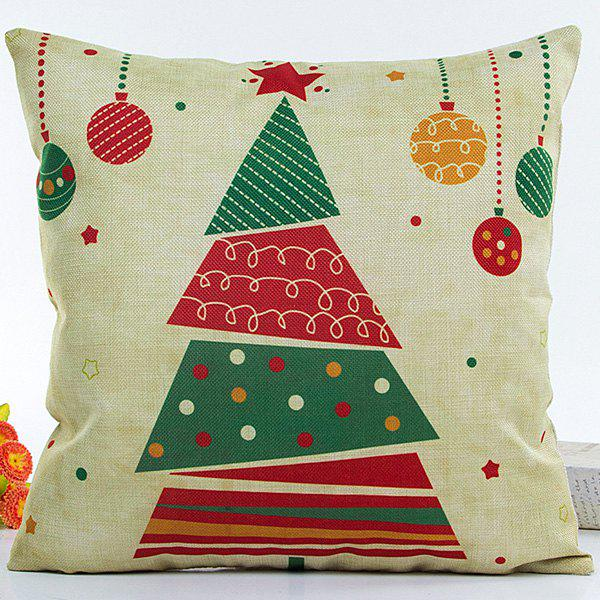 Decorative Colorful Christmas Tree Soft Household Pillow Case colorful letters decorative super soft household pillow case