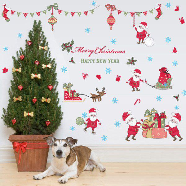 Merry Christmas Removable Waterproof Room Decor Wall Stickers removable colorful christmas penguins children s room wall stickers