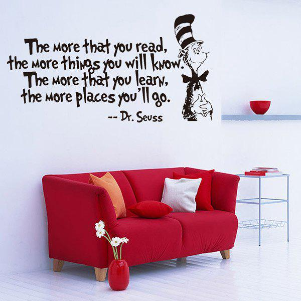 English Quote Removable Waterproof Room Decor Wall StickersHome<br><br><br>Color: BLACK