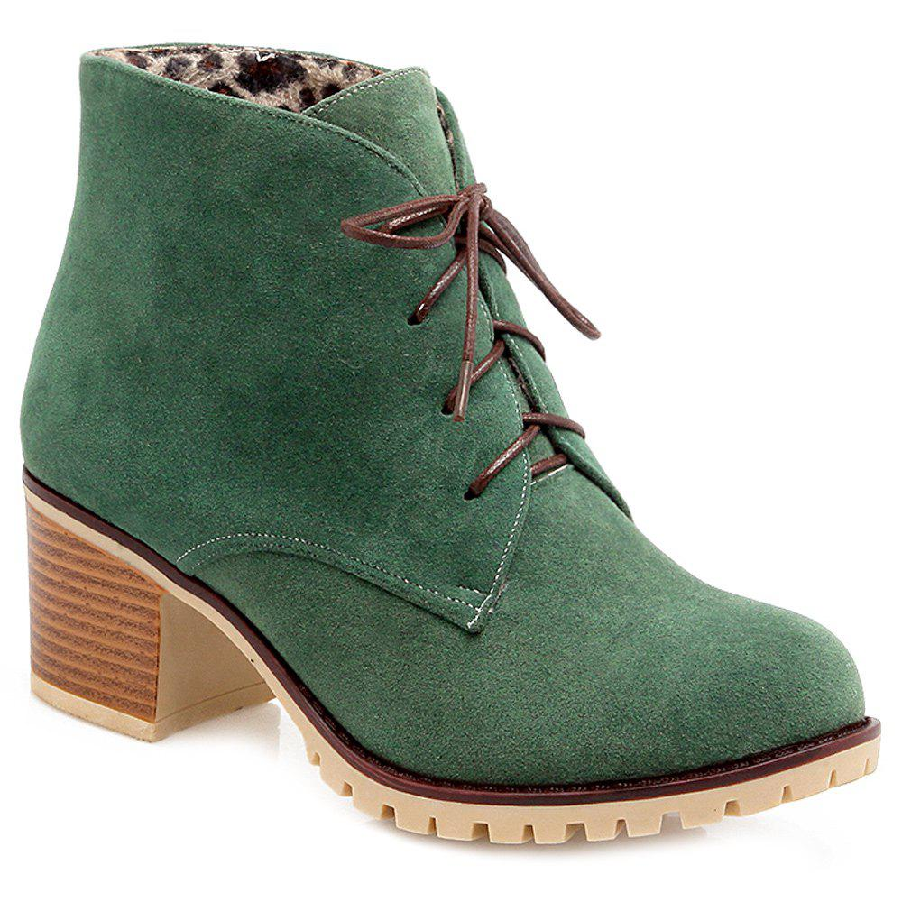 Wonderful Womenu0026#39;s Suede Chunky Heel Pumps Ankle Boots With Pearl Shoes (088148239) - Boots - JJsHouse