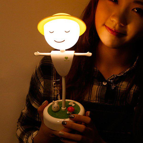 Creative USB Charging Induction LED Scarecrow Micro Landscape Night Light 198960701