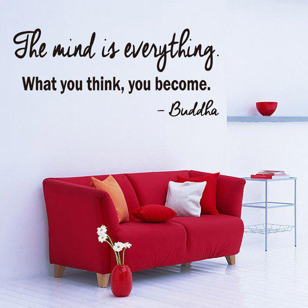 ... Famous Quote Removable Living Room Decor Wall Stickers   BLACK ... Part 94