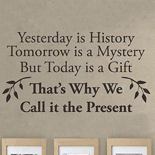 Yesterday Is History Today Is A: 2018 Yesterday Is History Quote Removable Room Decor Wall