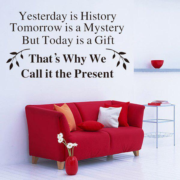Yesterday Is History Quote Removable Room Decor Wall Stickers yesterday печать люцифера цифровая версия