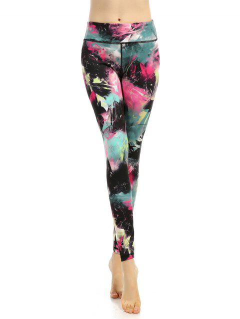 282d379bba201 41% OFF] 2019 High Stretchy Multicolor Printed Leggings In COLORMIX ...
