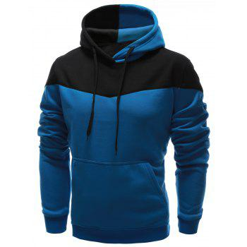 IZZUMI Classic Color Block Front Pocket Hooded Long Sleeves Men's Hoodie