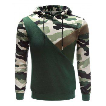 Buy Camouflage Splicing Hooded Hoodie ACU CAMOUFLAGE