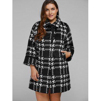 Houndstooth Loose Cashmere Coat