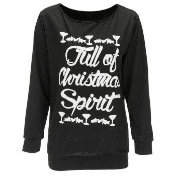 Pullover Letter Print Christmas Sweatshirt