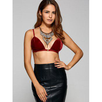 Front Close Wire Free Velvet Bra