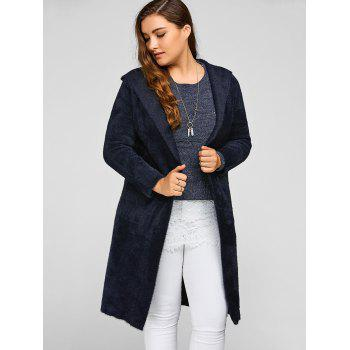 Long Hooded Cardigan with Pocket