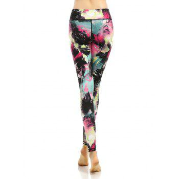 High Stretchy Multicolor Printed Leggings - COLORMIX L