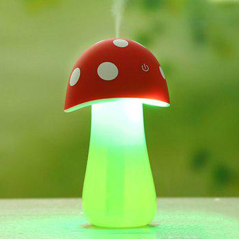 Mini USB Mushroom Spray Fogger Humidifier LED Night Light