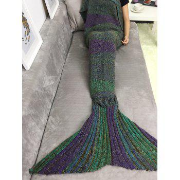 Thicken Ombre Sleeping Bag Sofa Knitting Mermaid Tail Blanket - COLORMIX