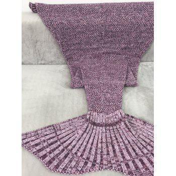 Handmade Knitting Sleeping Bag Sofa Wrap Mermaid Tail Blanket - FLAX