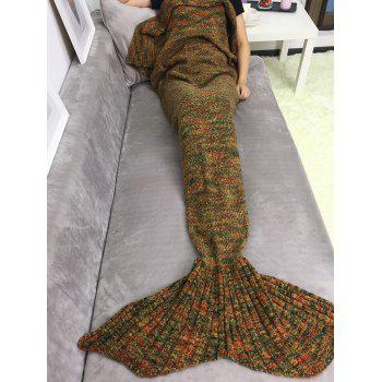Warmer Soft Knitting Sleeping Bag Sofa Wrap Mermaid Tail Blanket