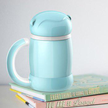 Cartoon Keeping Warm Office Home Water Thermos Bottle - BLUE