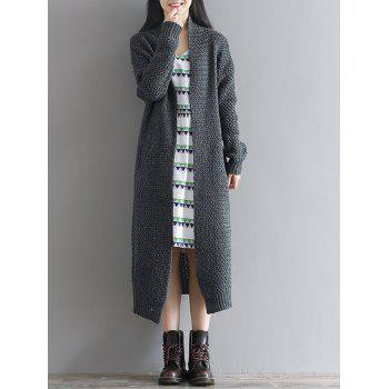 Loose Textured Knitted Duster Cardigan