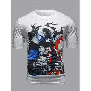 Round Neck Short Sleeves Graphic T-Shirt