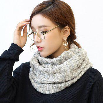 Pure Color Knitted Infinity Scarf - LIGHT GRAY LIGHT GRAY