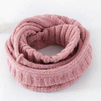 Pure Color Knitted Infinity Scarf - SHALLOW PINK SHALLOW PINK