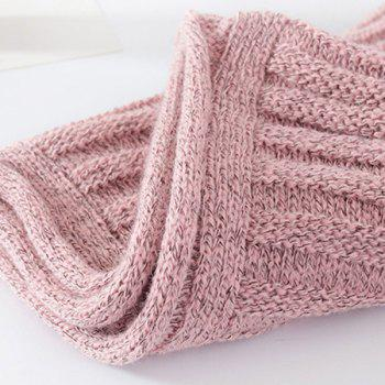 Pure Color Knitted Infinity Scarf -  SHALLOW PINK