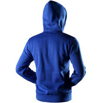 Sportive Full Zip Pocket Hoodie - BLUE BLUE