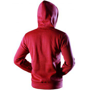 Kangaroo Pocket Drawstring Sweat à capuche - Rouge M
