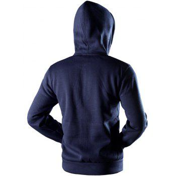 Kangaroo Pocket Drawstring Pullover Hoodie - CADETBLUE CADETBLUE