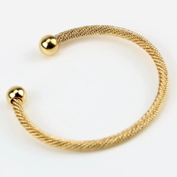 Concise Two Beads Cuff Bracelet