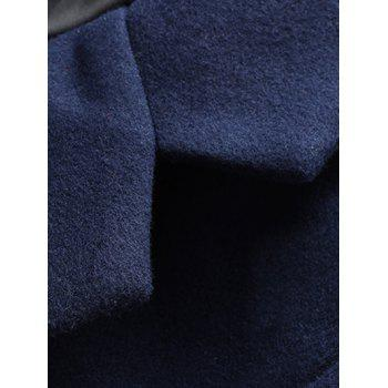 Bouton Manteau Pocket Lapel Woolen - Cadetblue XL