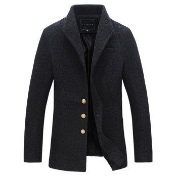 Lapel Single Breasted Tweed Coat