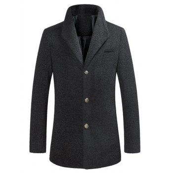 Lapel Fleece Single Breasted Woolen Coat