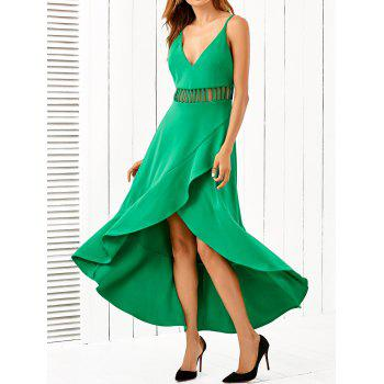 Buy Cami Layered Cut Asymmetric Dress GREEN