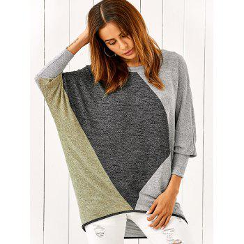 Batwing Sleeve Smock Pullover