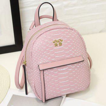 Snake Embossing PU Leather Backpack
