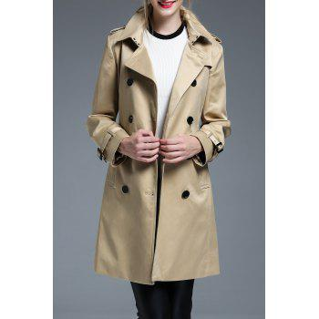 Double Breasted Belted Classic Trench Coat