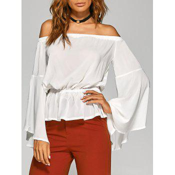 Off-The-Shoulder Split Sleeve Top