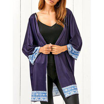 Bat-Wing Sleeve Printed Beach Cover Up
