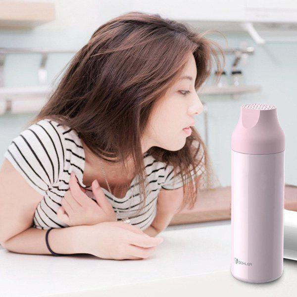 Portable Outdoor Travelling Keeping Warm Water Thermos Bottle - PINK