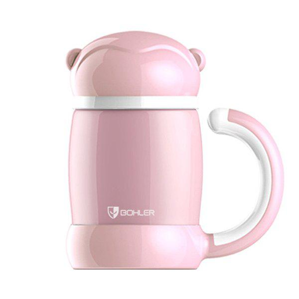 Cartoon Keeping Warm Office Home Water Thermos Bottle - PINK