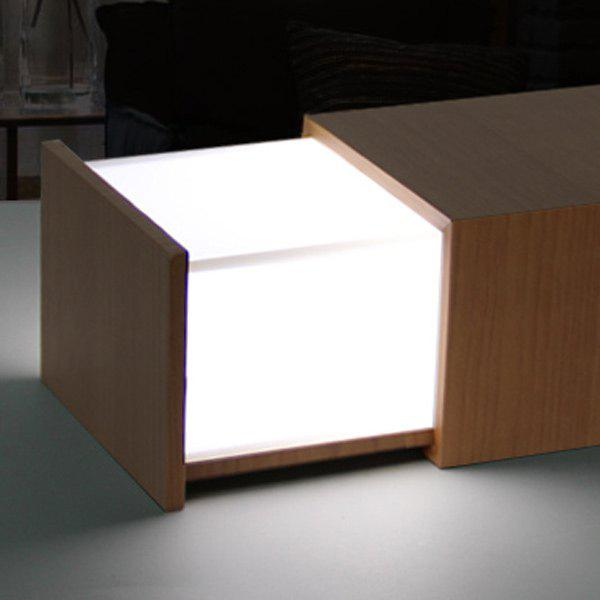 Multifunctional Music Box Bluetooth LED Drawer Design Night Light - YELLOW