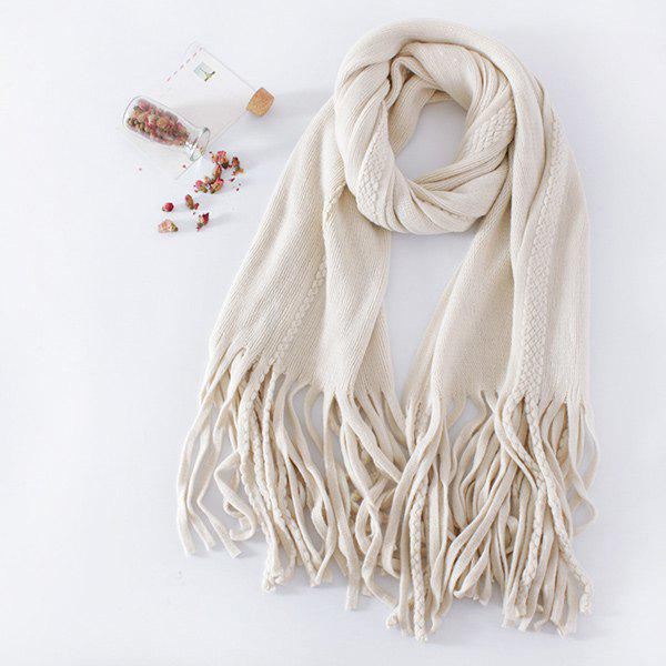 Long Braided Knitted Fringe Scarf rosicil consumer cap knitted scarf